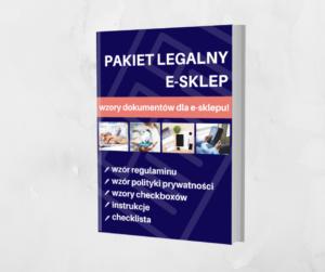 Grafika reklamująca produkt Legalna Strefa Biznesu w Legalny Biznes Online oraz pakiet Legalny E-sklep, tekst na grafice: PAKIET LEGALNY E-SKLEP, wzory dokumentów dla e-sklepu!
