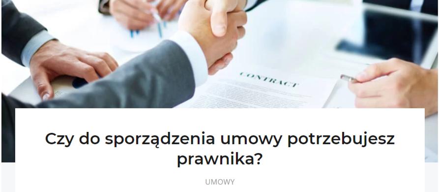 umowa zlecenie- sporządzanie