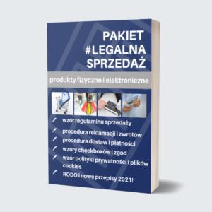 Grafika reklamująca produkt Legalna Strefa Biznesu w Legalny Biznes Online oraz pakiet Legalna sprzedaż, tekst na grafice: PAKIET #LEGALNA SPRZEDAŻ, produkty fizyczne i elektroniczne