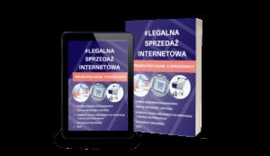 Grafika reklamująca produkt Legalna Strefa Biznesu w Legalny Biznes Online oraz pakiet Legalna Sprzedaż Internetowa, pokazujący, jak przygotować dokumentację do sprzedaży online, tekst na grafice: #LEGALNA SPRZEDAŻ INTERNETIWA
