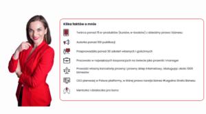 Platforma dla przedsiębiorców - Legalna Strefa biznesu autorstwa radcy prawnego Ilony Przetacznik. Napis na grafice: kilka faktów o mnie.